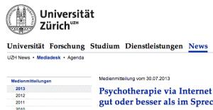 Internet-Psychotherapie
